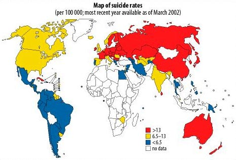 Global suicide rates have increased 60% in the past 45 years.